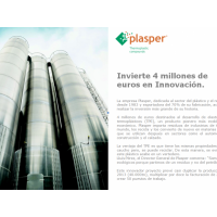 Plasper will invest 4M € in a new production line